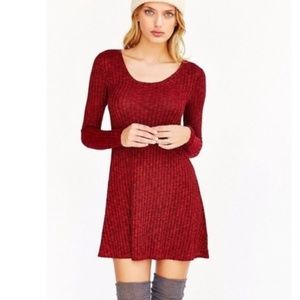 UO BDG Red Sweater Dress